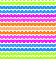 Wave green pink orange blue background seamless vector image