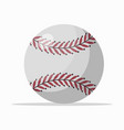 white ball with red seam vector image