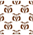 Wise old owl seamless background pattern vector image