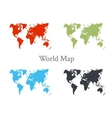 World map set in different color vector image