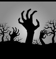 zombi hands horror for halloween party banners vector image
