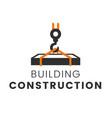 building construction logo template vector image