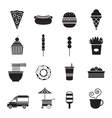 Fast Food Mono Icons Set vector image