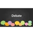 debate graphic vector image