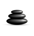 Stack of spa stones isolated on white vector image