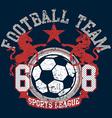 Soccer football sports league team with unicorns vector image