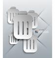 3d paper bin modern design vector image