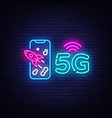 5g new wireless internet wifi connection neon sign