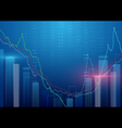 Abstract background Stock Market background vector image