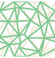 abstract triangle geometrical green vector image vector image