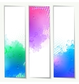 Abstract Watercolor Headers vector image vector image
