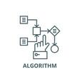 algorithm line icon algorithm outline vector image vector image