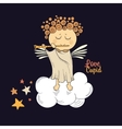 angel playing flute vector image vector image