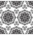background with black and white mehndi seamless vector image
