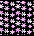 beautiful clematis flower seamless pattern vector image