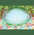 beautiful fantasy forest scene vector image vector image