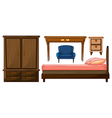 Bedroom furnitures vector image vector image
