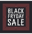 Black friday sale background Creative font vector image