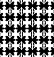 Black pattern floral seamless on white background vector image vector image