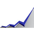 blue arrow graph goes up white background vector image vector image
