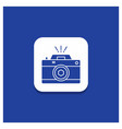 blue round button for camera photography capture vector image