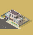 bungalow villa or mansion isometric building vector image vector image