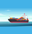 cargo ship flat delivery vector image vector image