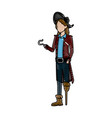 character man pirate suit hat costume halloween vector image vector image