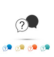 chat question icon isolated on white background vector image vector image