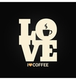 coffee concept label background vector image vector image