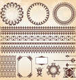 collection of vintage elements for design vector image vector image