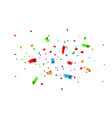 colorful confetti celebration carnival falling vector image