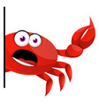 confused crab on white background vector image vector image