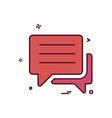 conversation chat sms icon design vector image