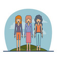 couple teacher profession people women with vector image