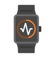 fitness tracker flat icon fitness and sport vector image vector image