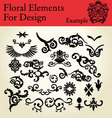 floral elements for design vector image vector image