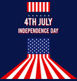 forth july united states america vector image vector image
