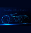 futuristic motorcycle or bike from neon lines on vector image vector image