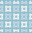 geometric flower quilt grid pattern seamless vector image vector image