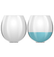 Glasses with one empty and one with water vector image vector image