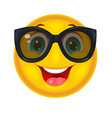 happy smiley in sunglasses vector image