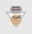 honest man clothing company label vector image vector image