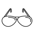 hunter sunglasses icon outline style vector image vector image
