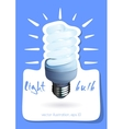 Illuminated light bulb vector image