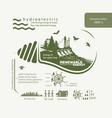 infographics renewable of hydroelectric energy vector image vector image