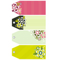 labels with decorative flowers vector image vector image