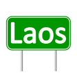 Laos road sign vector image