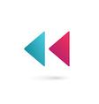 Letter K rewind logo icon design template elements vector image vector image