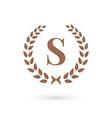 Letter S laurel wreath logo icon design template vector image vector image